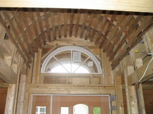 How to build a barrel vault ceiling