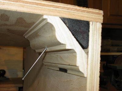 Installing crown molding to metal studs a concord carpenter for Fiberglass crown molding