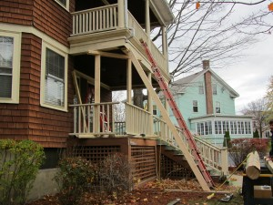 Steps To support porch roof and Replace Wood Columns with PVC Columns