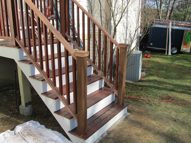 Mahogany Porch Railing And Balusters Installing Porch Railings