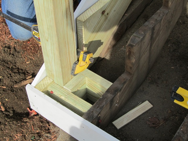 Replacing An Exterior Stair Post - A Concord Carpenter
