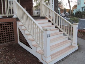 Replacing An Exterior Stair Post A Concord Carpenter