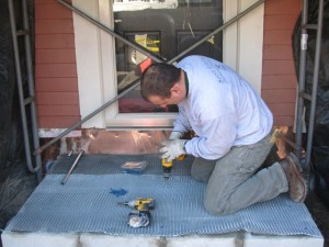 Installing a  Warmly Yours snow melt system