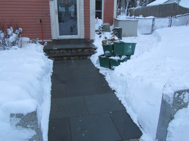 Ice Melt Cables : Warmlyyours snow melting system hard at work a concord
