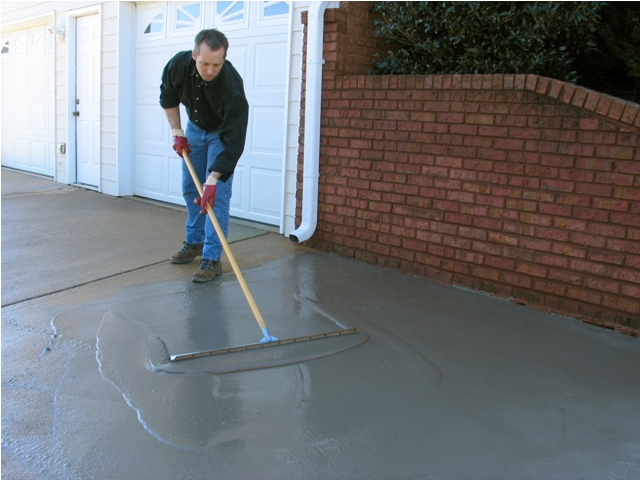 Beautiful A Concrete Makeover Quickcrete Resurfacer