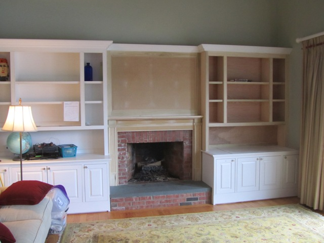 Built In Bookcase And Mantle Installation A Concord