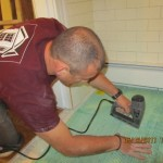 Securing WarmlyYours Tempzone mat to the subfloor