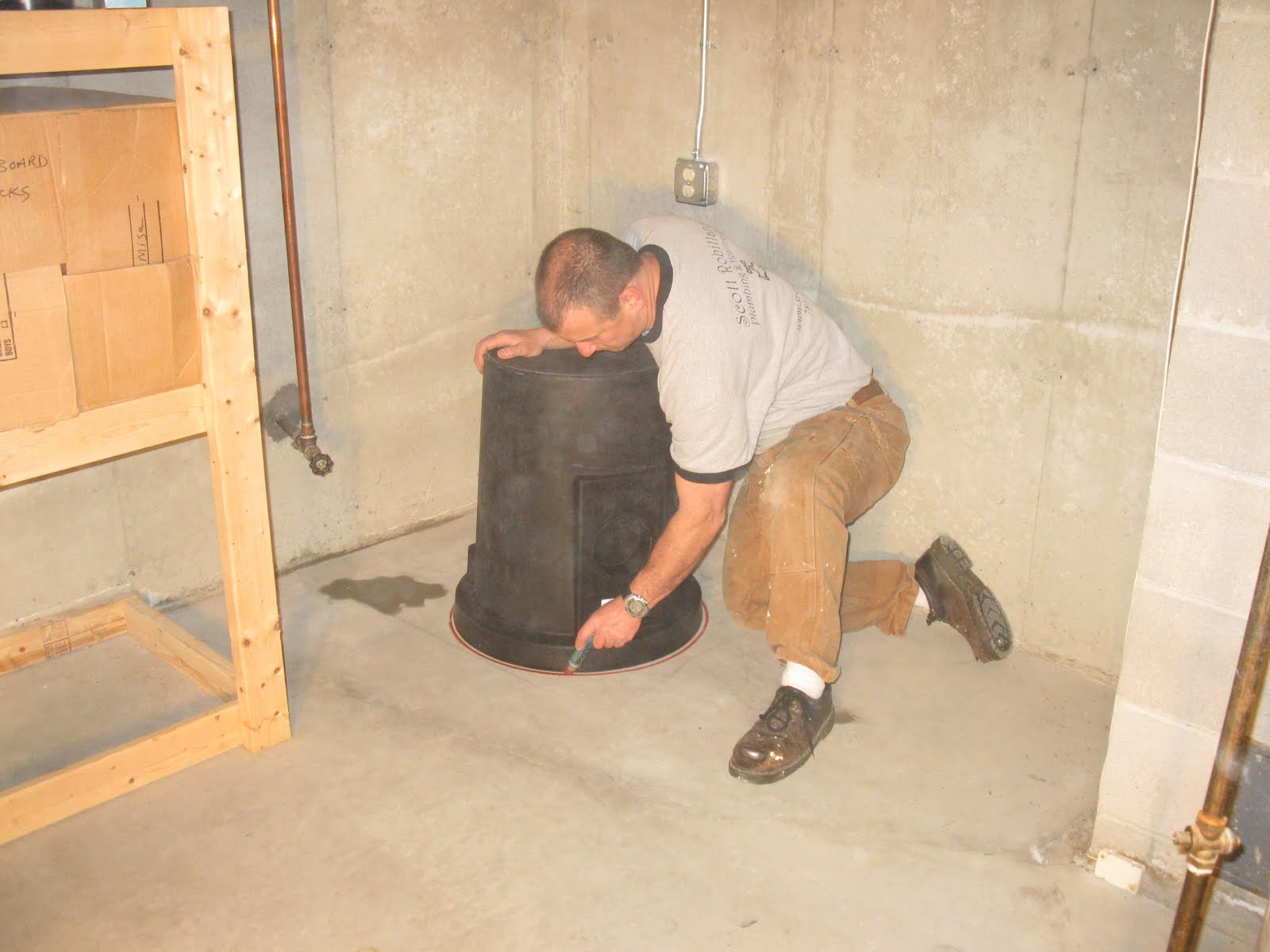 how to install a sump pump a concord carpenter