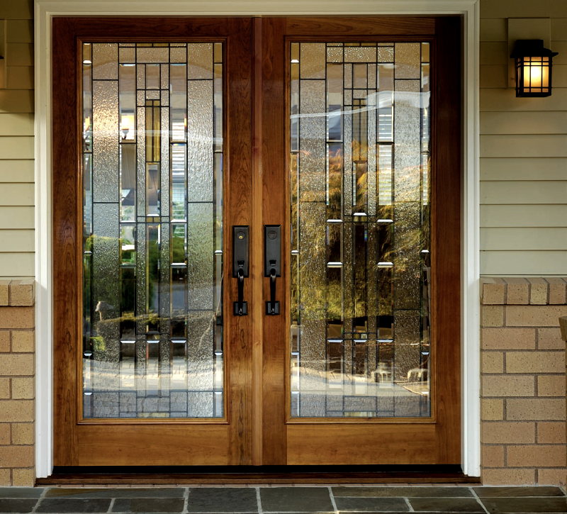 Double doors on pinterest entry doors iron doors and for Exterior double doors with glass