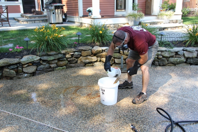 How To Remove A Rust Stain Off Concrete Or Bluestone
