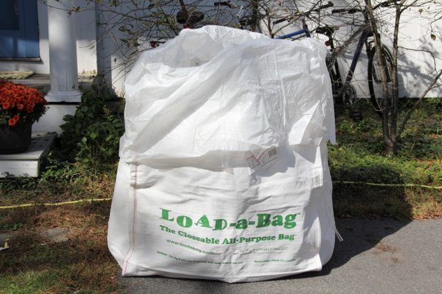 What is the typical cost for picking up a dumpster bag?