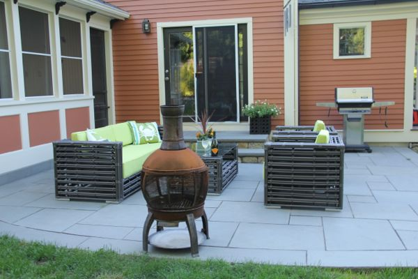 Blue Stone Patio - A Concord Carpenter