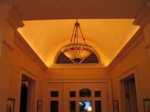 Rope lighting behing crown molding