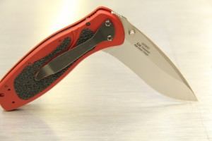 Kershaw Ken Onion Red Blur Folding Knife with Speed Safe
