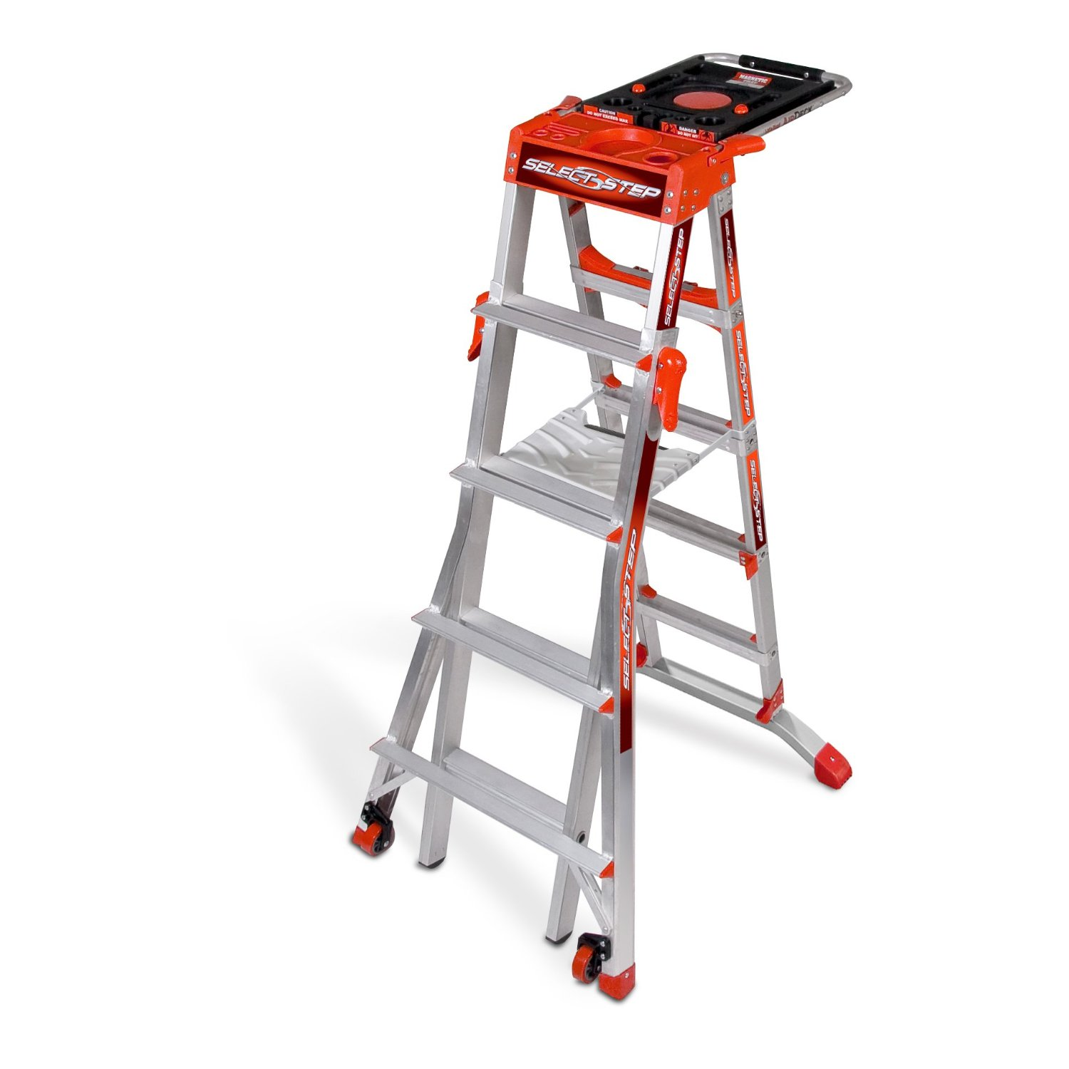 Little Giant Adjustable Heavy Duty Step Ladder