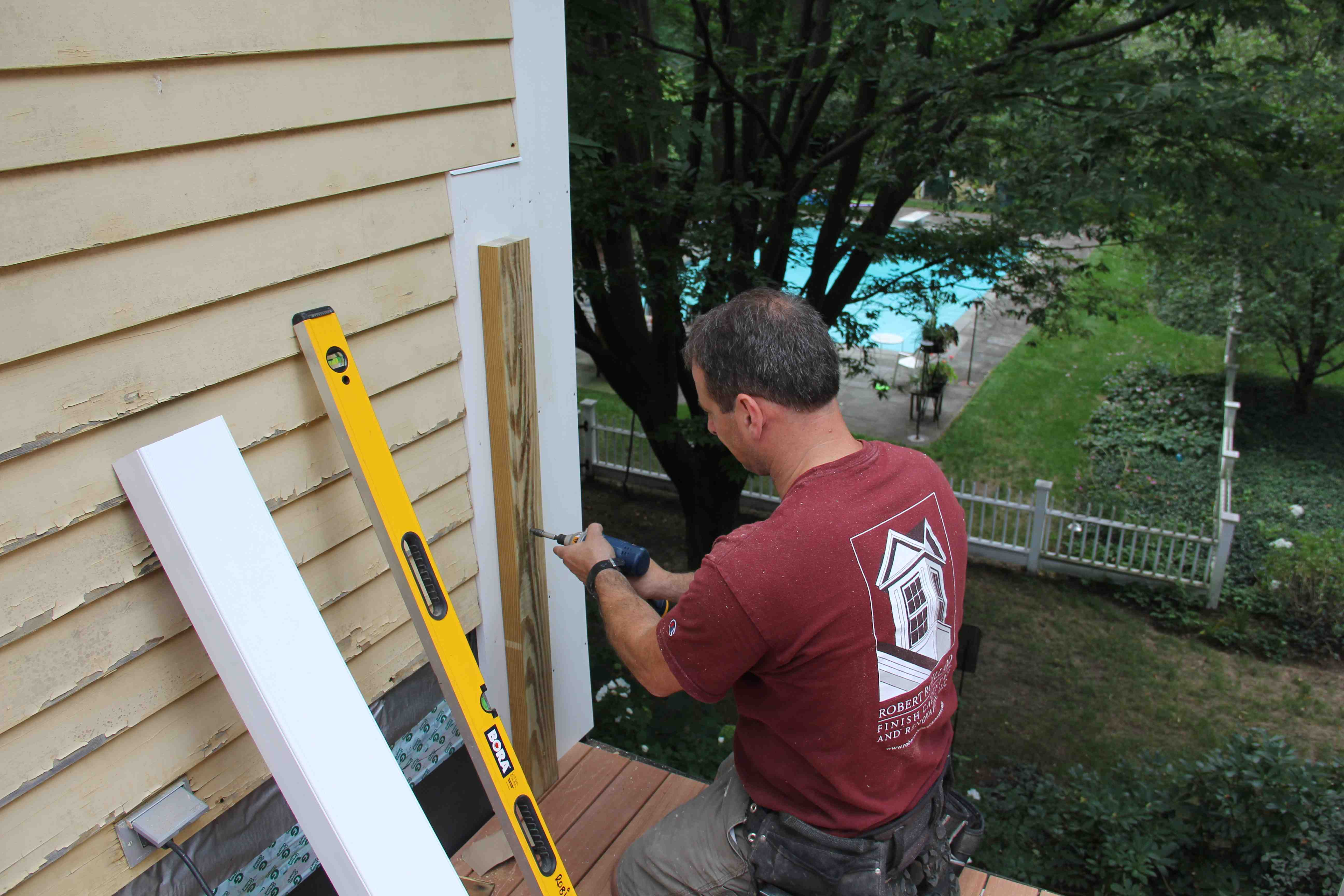 Attaching deck to house with siding - Building A Roof Deck