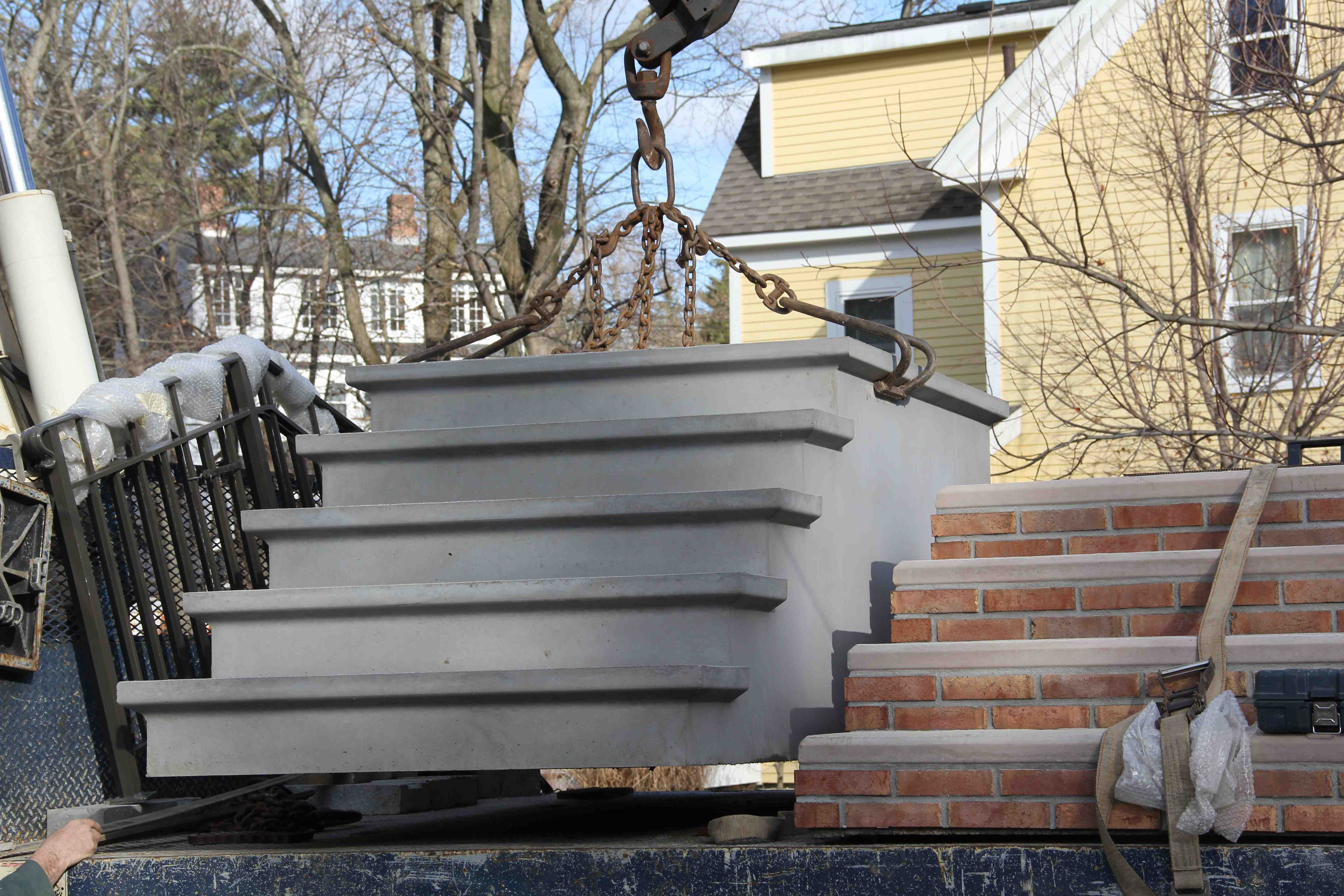 Premade deck steps home decor for Ready made stairs
