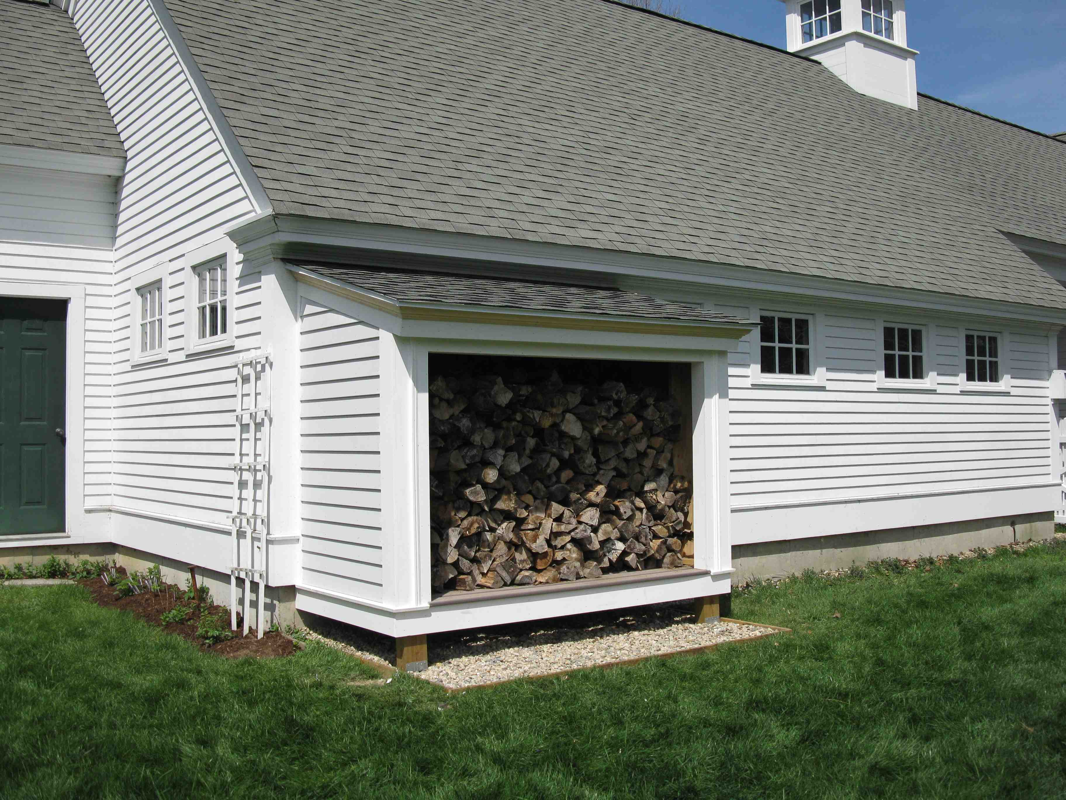 Building a firewood shed a concord carpenter for Cordwood house cost