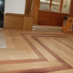 Hardwood floor border and feature strip