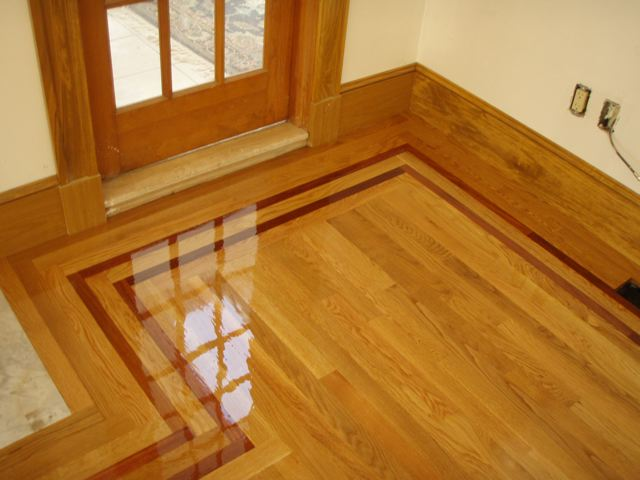 Hardwood floor border and feature strip Hardwood floor designs borders