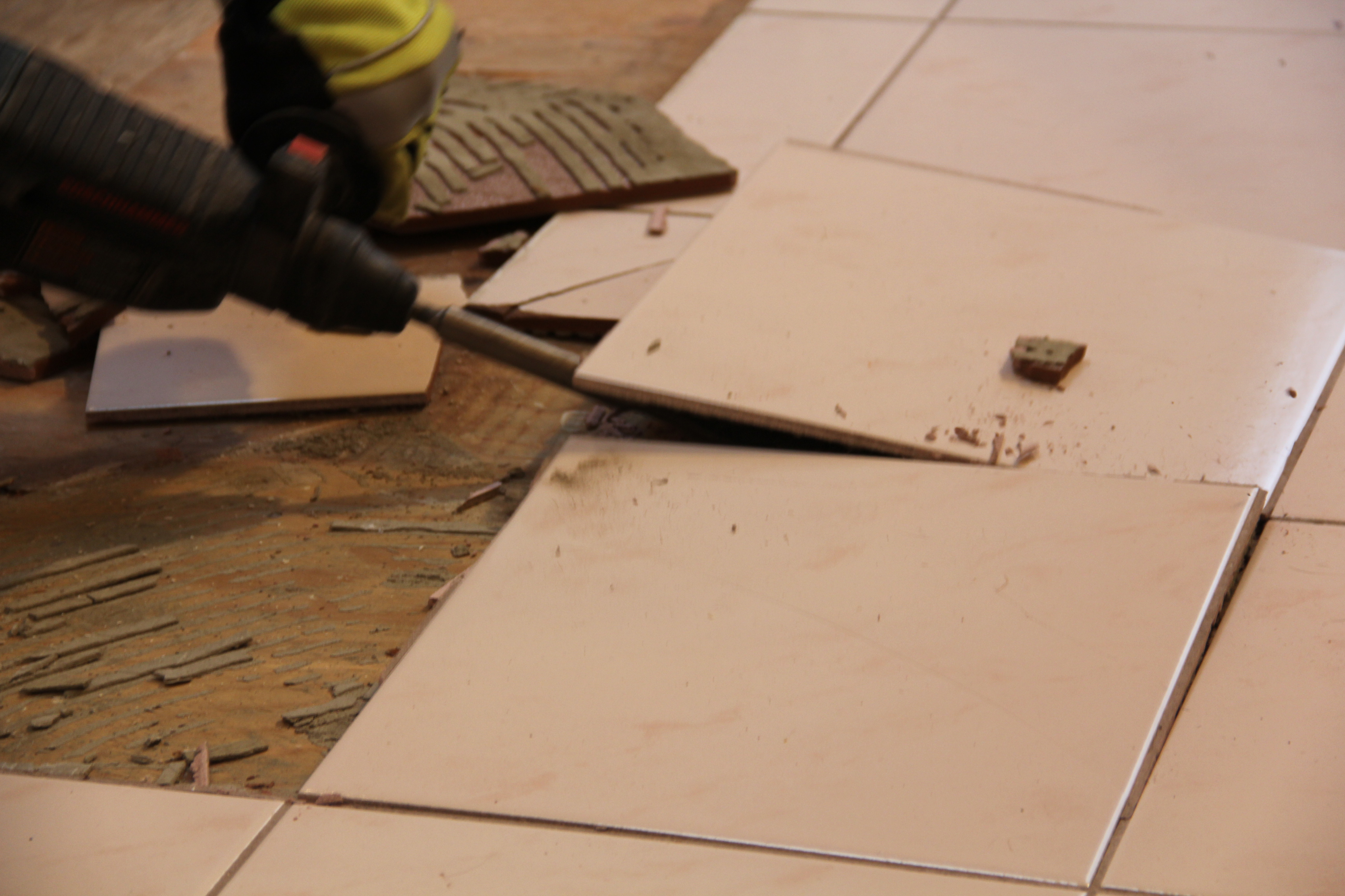 How to remove a tile floor and underlayment a concord carpenter how to remove a tile floor and underlayment doublecrazyfo Image collections