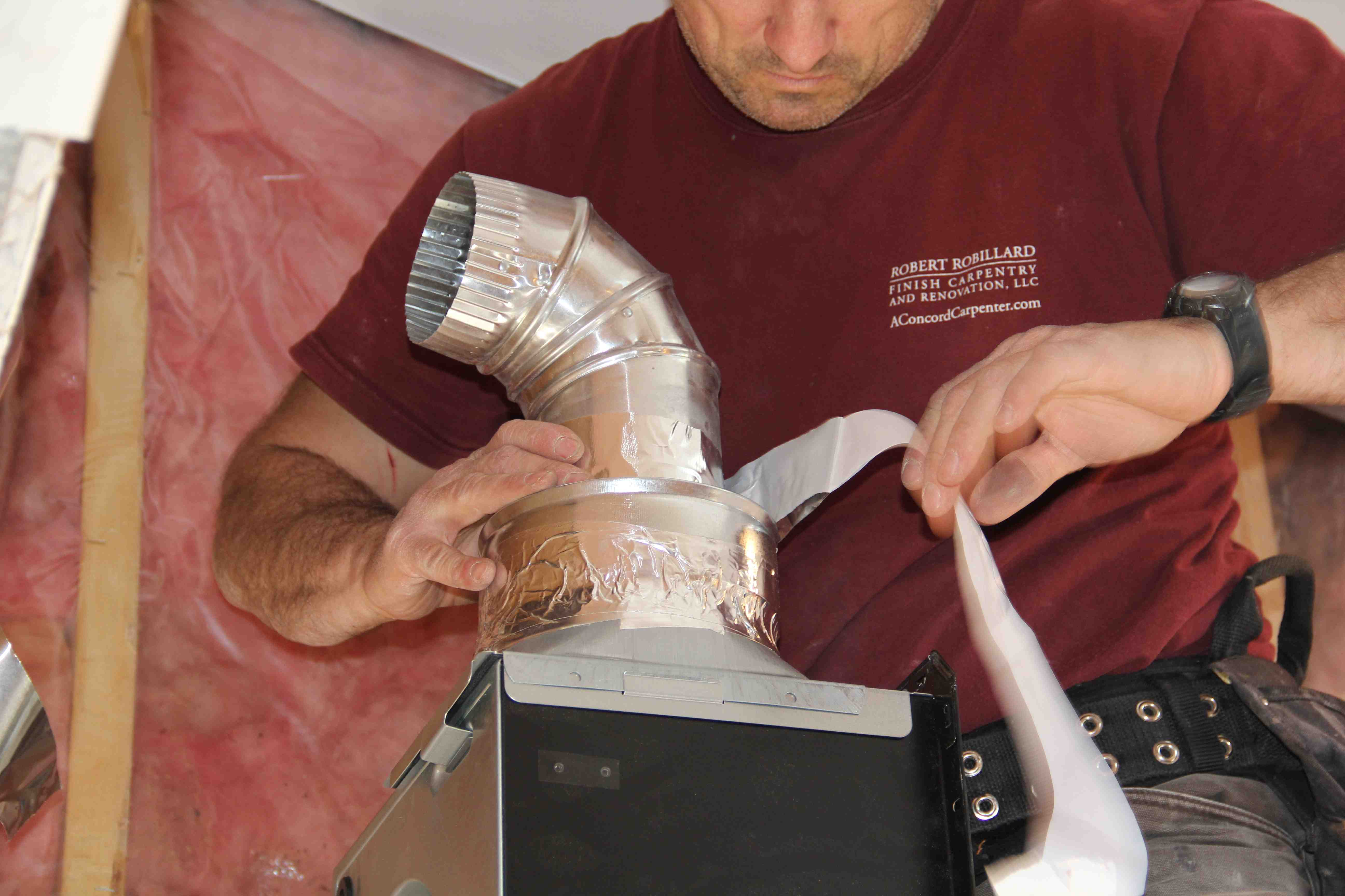 Installing A Bathroom Vent Duct A Concord Carpenter - Installing roof vent for bathroom exhaust fan