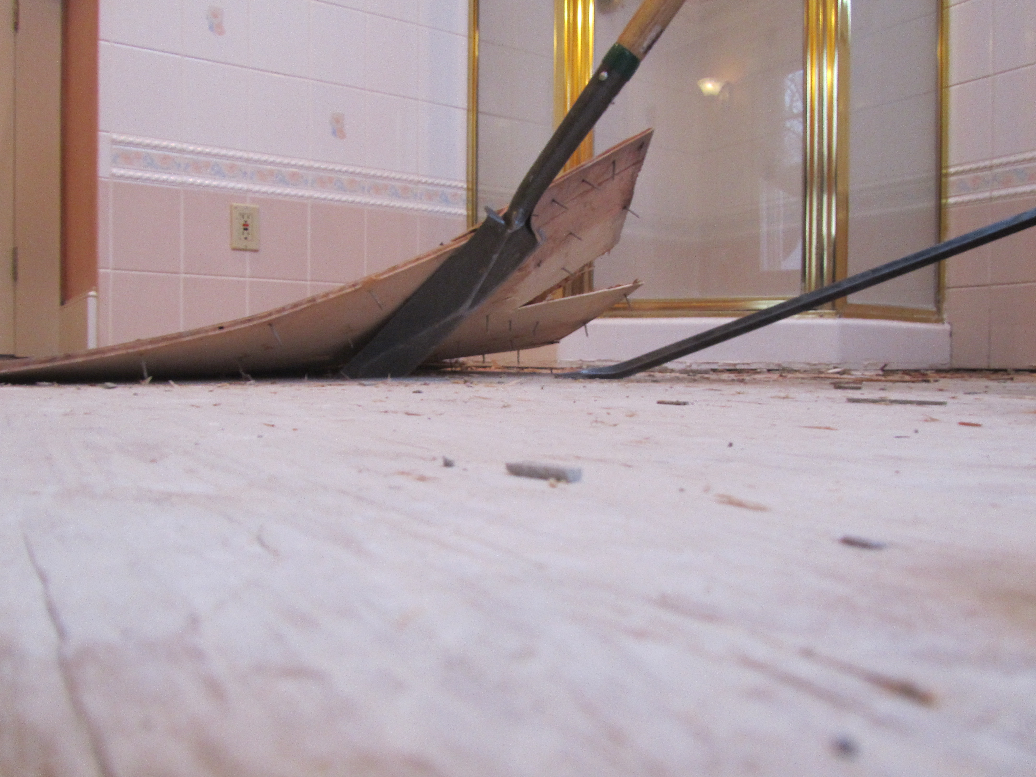 How to remove a tile floor and underlayment a concord carpenter how to remove a tile floor and underlayment dailygadgetfo Image collections