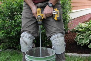 Mixing thinset mortar - A bold move for a cordless tool!