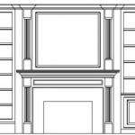 Bookcase and mantle