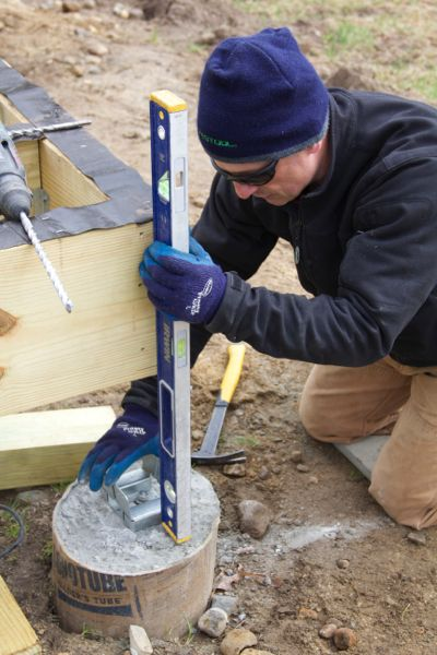 Leveling Post Anchors : How to repair concrete deck anchor bolt a concord carpenter