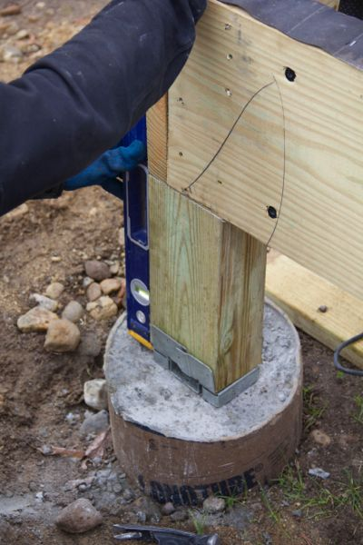 Setting Posts In Concrete A Concord Carpenter