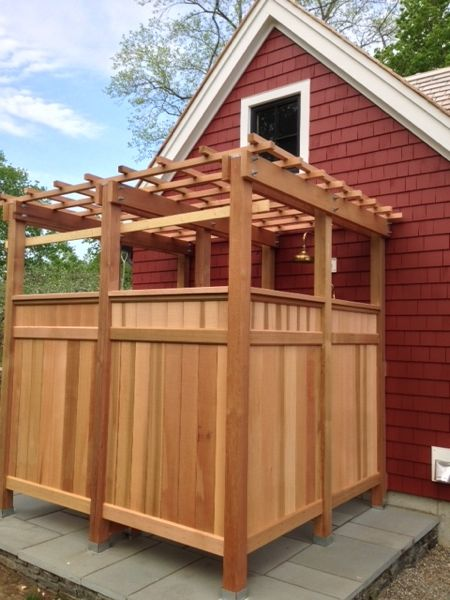 How to build an outdoor shower a concord carpenter - How to make an outdoor shower ...