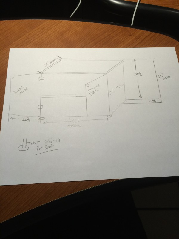 custom cabinet drawing