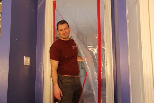 zipdoor dust containment u2013 allows access to area