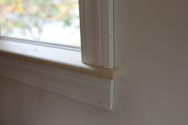 How To Install An Interior Window Sill A Concord Carpenter