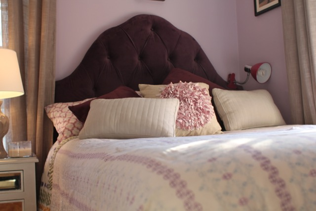 mount an upholstered headboard to the wall a concord carpenter. Black Bedroom Furniture Sets. Home Design Ideas