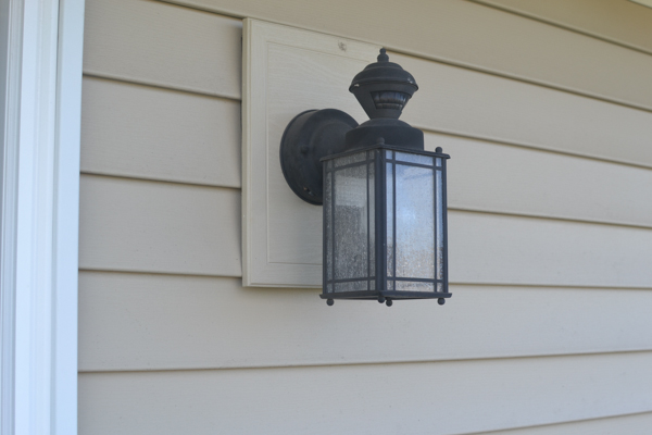 Installing Exterior Light Fixture On Siding Installing Exterior Light Fixture On Vinyl Siding