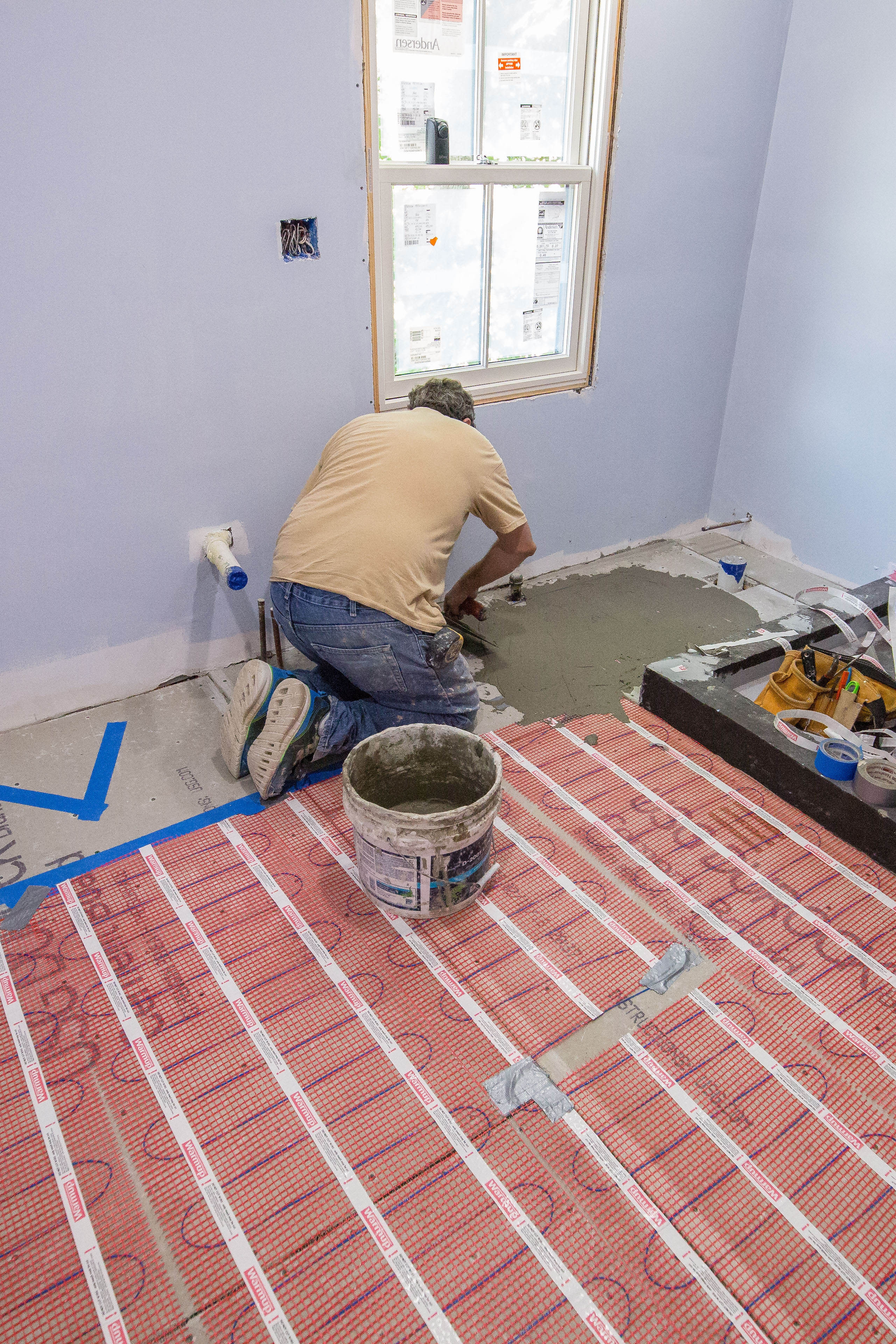 Using Electric Floor Heat On Bathroom Remodels A Concord Carpenter