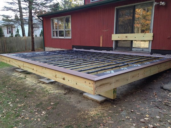 Rubber Flashing On Deck Joists