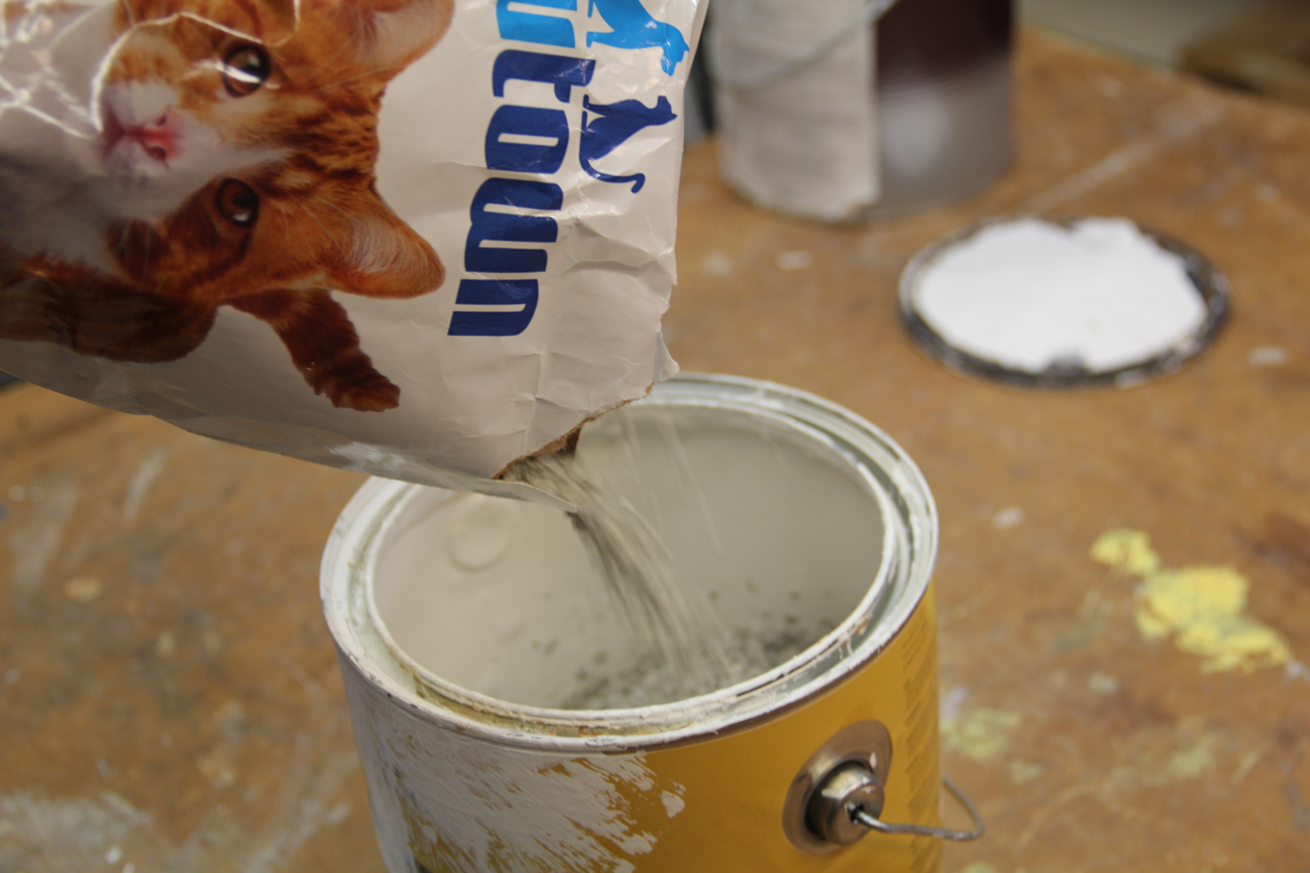 Dry latex paint disposal