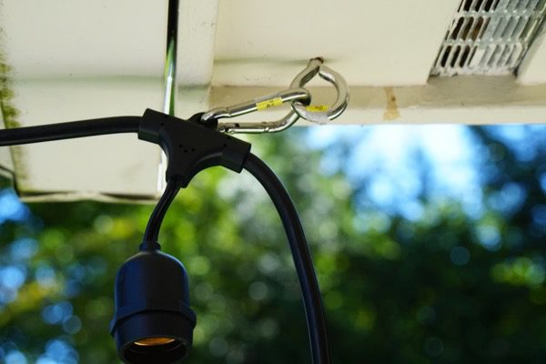 Using a Cable to Hang String Lights - A Concord Carpenter