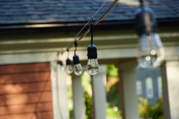Using A Cable To Hang String Lights, What Cable Do You Use For Outdoor Lights