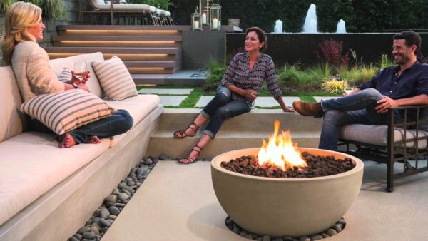Creating an outdoor living space for Eldorado stone fire bowl