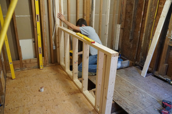Best Method to Stiffen A Half Wall - A Concord Carpenter