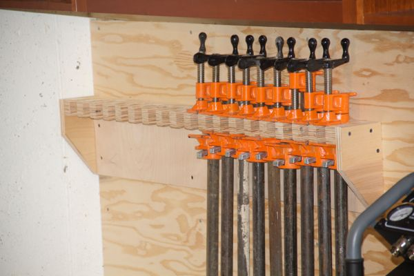 How To Make A Pipe Clamp Storage Rack A Concord Carpenter