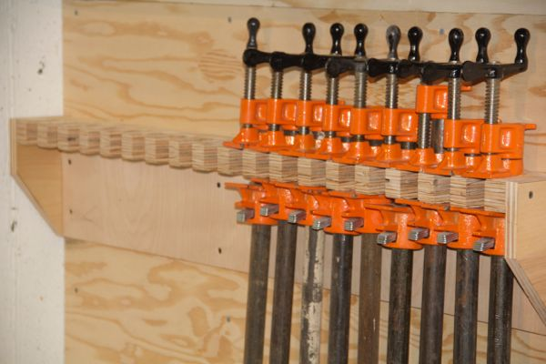 How To Make A Pipe Clamp Storage Rack Concord Carpenter