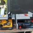 Dewalt DW745 and Bosch GTS 1031 10-inch tables saws