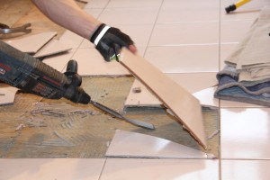 how to remove a tile floor and underlayment a concord 26205