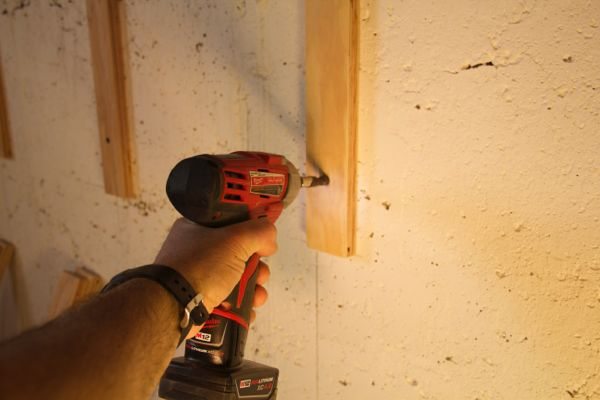 How To Fasten Furring Strips To Concrete A Concord Carpenter