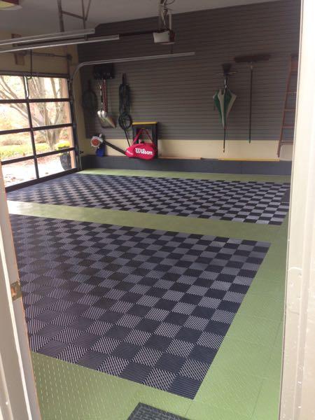 Racedeck garage flooring dandk organizer for Garage designs com